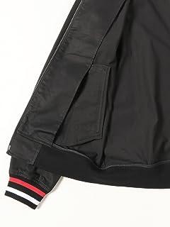 Tipped Harrington Jacket 11-18-3834-060: Black