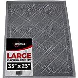 "SlipToGrip Universal Door Mat – Plaid Design Size 35"" x 23"" – Anti Slip, Durable & Washable – Duraloop Mesh Entrance Outdoor"