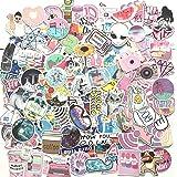 156 Pcs Cute Stickers,Laptop and Water Bottle Decal Sticker Pack for Teens, Girls, Women Vinyl Stickers Waterproof (Pink)