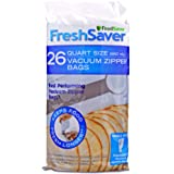 FoodSaver FreshSaver Quart Size Vacuum Zipper Bags, 26 Count
