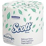 Scott 05102CT Standard Roll Bathroom Tissue, 1-Ply, 1210 Sheets per Roll (Case of 80 Rolls),White