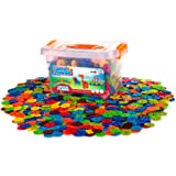 Creative Kids Flakes – 1400 Piece Interlocking Plastic Disc Set for Safe, Fun, Creative Building – Educational STEM Construct