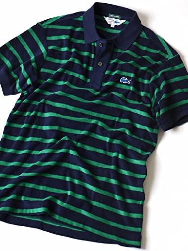 Pile Stripe Polo 112-12-0842: Blue