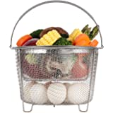Aozita Steamer Basket for Instant Pot Accessories 6 qt or 8 quart - 2 Tier Stackable 18/8 Stainless Steel Mesh Strainer Baske