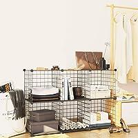 JOISCOPE 本棚 収納棚 大容量 整理棚 スペース節約 収納ラック 多用途ケース メタルラック 衣類収納ボックス…
