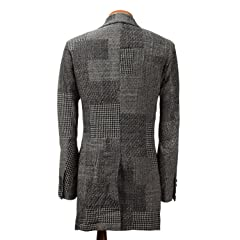 Sage de Cret Patchwork Jacquard Coat 31-50-9277: White / Black