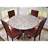 Covers For The Home Elastic Tablecloth, COMINHKPR125020, Multi-Color Geometric, Lg Round Elastic