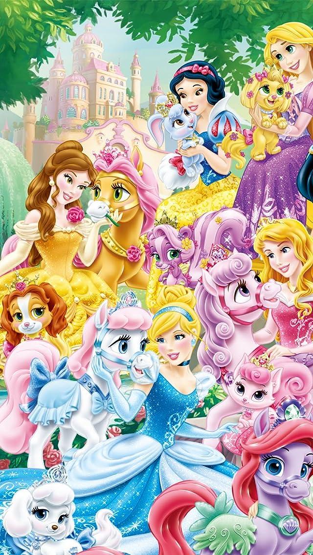 ディズニー プリンセス ロイヤルペット iPhoneSE/5s/5c/5(640×1136)壁紙 画像50347 スマポ