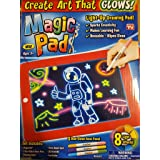Ontel Bonus magic pad deluxe light up led drawing tablet with extras(magic pad bonus pack)