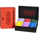 T2 Tea World of Breakfast- Black Tea Gift Pack, 6 Loose Leaf Breakfast Tea in Mini Limited Edition Tin, 215 g