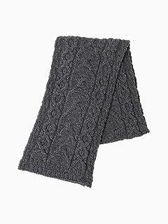 Wool Cable Scarf 11-45-0584-263: Dark Grey