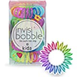 invisibobble Kids Spiral Hair Ring - 5 Pack, Magic Rainbow - No-Ouch Coil Hair Ties with Strong Grip - Accessories for Girls