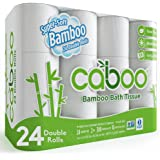 Caboo Tree-Free Bamboo Toilet Paper, 24 Double Rolls, Septic Safe Biodegradable Bath Tissue with Eco Friendly Soft 2 Ply Shee
