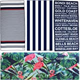 Microfibre Beach Towel, Waffle Weave, Cabana, Quick Dry, Compact & Light, Sand Free. Perfect for: Beach, Pool, Yoga, Gym, Tra