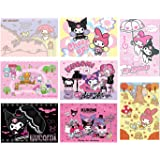 OAbear My Melody Kuromi Posters Manga Decor Live Room Bedroom Anime Canvas Wall Art Print 8 PCS 11.5x16.5 Inch