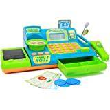 Boley Kids Toy Cash Register - Pretend Play Educational Toy Cash Register with Electronic Sounds, Play Money, Grocery Toy and