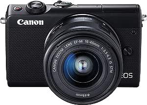 Canon ミラーレス一眼カメラ EOS M100 EF-M15-45 IS STM レンズキット(ブラック) EOSM100BK1545ISSTMLK