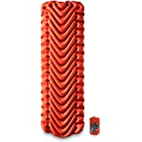KLYMIT Insulated Static V Sleeping Pad, Lightweight, 2.5 Inches Thick, Sleep Comfort for Backpacking, Cold Weather Camping an