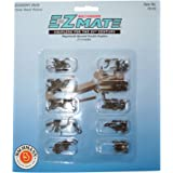 Bachmann Trains E-Z Mate Magnetic Knuckle Couplers - Economy Pack - Center Shank - Medium (25 Coupler Pairs per Card) - HO Sc