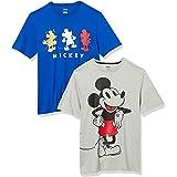 Amazon Essentials Men's Disney Star Wars Marvel Regular-Fit Crew-Neck T-Shirts, 2-Pack