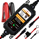 MOTOPOWER MP00205A 12V 800mA Fully Automatic Battery Charger/Maintainer for Cars, Motorcycles, ATVs, RVs, Powersports, Boat a