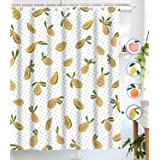 Lifeel Papaya Shower Curtains, Allover Fruits Shower Curtain Cute Bright Dotted Design Waterproof Fabric Bathroom Shower Curt