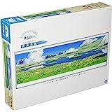 エンスカイ 950ピース ジグソーパズル スタジオジブリ背景美術シリーズ ハウルのひみつの庭 950-204 34×102cm