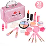 balnore 21 Pcs Washable Makeup Toy Set, Safe & Non-Toxic,Real Cosmetic Beauty Set for Kids Play Game Halloween Christmas Birt