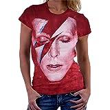 Liquid Blue Womens 13982W-960-XL David Bowie Alladdin Sane Long Length T-Shirt Short Sleeve T-Shirt - Multi