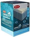Tontine Comfortech Memory Foam Mattress Topper, Double, White