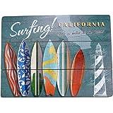 【USA アメリカン デザイン】SURFING CALIFORNIA サーフ ハワイ カリフォルニア 店舗 カフェ ガレージ サインボード ビンテージ インテリア ウッド 看板 ;WVSB-048