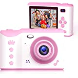 Bright Platinum Kids Camera, 8MP Digital Dual Camera Rechargeable Shockproof Camcorder Camera With 2.8 Inch Touch Screen and