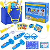GINMIC Kids Doctor Play Kit, Pretend Play Doctor Set with Roleplay Doctor Costume and Medical Bag for Toddlers and Kids Dress