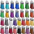 Paxcoo Keychain Tassels Bulk for Acrylic Keychain Blanks and Key Chains Multicolor