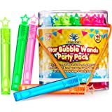 Star Bubble Wands Party Favors Pack Of 40 By Ratatoys: Fourty Mini Neon Bubble Wands | Odor-Free Non-Toxic Kids' Bath Toy/Bir