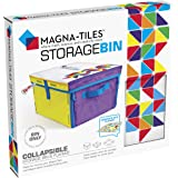 Magna Tiles Storage Bin & Interactive Play-Mat, Collapsible Storage Bin with Handles for Playroom, Closet, Bedroom, Home Orga