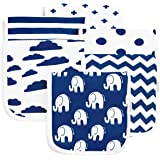 Burp Cloths for Baby Boy & Girl - Ultra Absorbent Burping Rags - Anti Shrink Unisex Burpy Clothes - Super Soft Jersey Cotton,