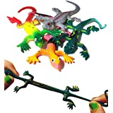 UpBrands 24 Pack Painted Rubber Lizards Toys 3 Inches Bulk Set, 4 Models, Kit for Birthday Party Favors for Kids, Goodie Bags
