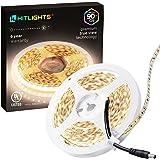 HitLights Neutral White LED Light Strip Premium High Density 3528-16.4 Feet 600 LEDs 4000K 164 Lumens per Foot. UL-Listed. 12