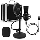 USB Microphone Podcast Recording Kit - Audio Cardioid Condenser Mic w/Desktop Stand and Pop Filter - for Gaming PS4, Streamin