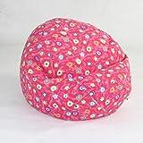 (Jr Child, Pink Flower) - Elite Products Child Prints Collection Jr. Bean Bag Chair