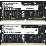 TEAMGROUP Elite DDR4 32GB Kit (2 x 16GB) 3200MHz PC4-25600 CL22 Unbuffered Non-ECC 1.2V SODIMM 260-Pin Laptop Notebook PC Com