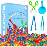 KINFAYV Water Beads - 70000 Beads 1 Scoop 2 Tweezers 1 Spoon, Soft Water Jelly Beads Motor Skills Toy Set,Non-Toxic Water Sen