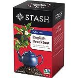 Stash Tea English Breakfast Black Tea, 20 Count Tea Bags in Foil (Pack of 6) Individual Black Tea Bags for Use in Teapots Mug