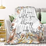 Bible Verse - I Am with You Always Fleece Throw Blanket Lightweight Super Soft Flannel Bed Blanket Perfect Home Decor for Cou