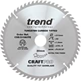 Trend CSB/21060TC Craft Saw Blade 210mm x 60 Teeth x 30 x 1.8 for DCS7485, Silver/Black, 30Mm