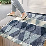 "Indoor Doormat Front Back Door Mat, 32""x48"" Water Absorbent Low-Profile Mud Mat Non Slip Large Door Rug for Inside Entrance M"