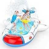 "Uarzt Splash Pad 3 in 1 Sprinkler for Kids, 68"" Inflatable Splash Swimming Kiddie Pool for Kids Toddlers Dogs, Summer Water T"