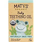 Maty's Organic Baby Teething Oil – Soothes Swollen Gums & Relieves Pain for Teething Babies, Made with Clove and Lavender Oil