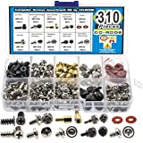 CO RODE 310pcs PC Computer Screw Standoffs Assortment Kit for Hard Drive Computer Case Motherboard Fan Power Graphics